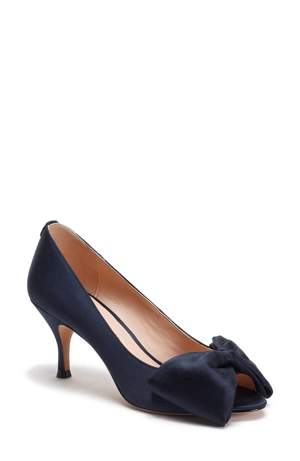 Women's Kate Spade New York Crawford Peep Toe Pump, Size 5 M - Blue