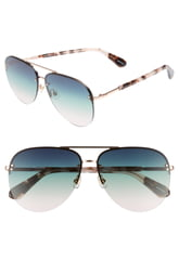 Women's Kate Spade New York Jakaylas 62mm Aviator Sunglasses - Pink Havana