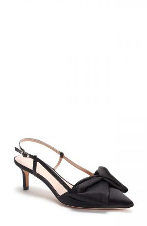Women's Kate Spade New York Marseille Bow Pointed Toe Slingback Pump, Size 5 M - Black