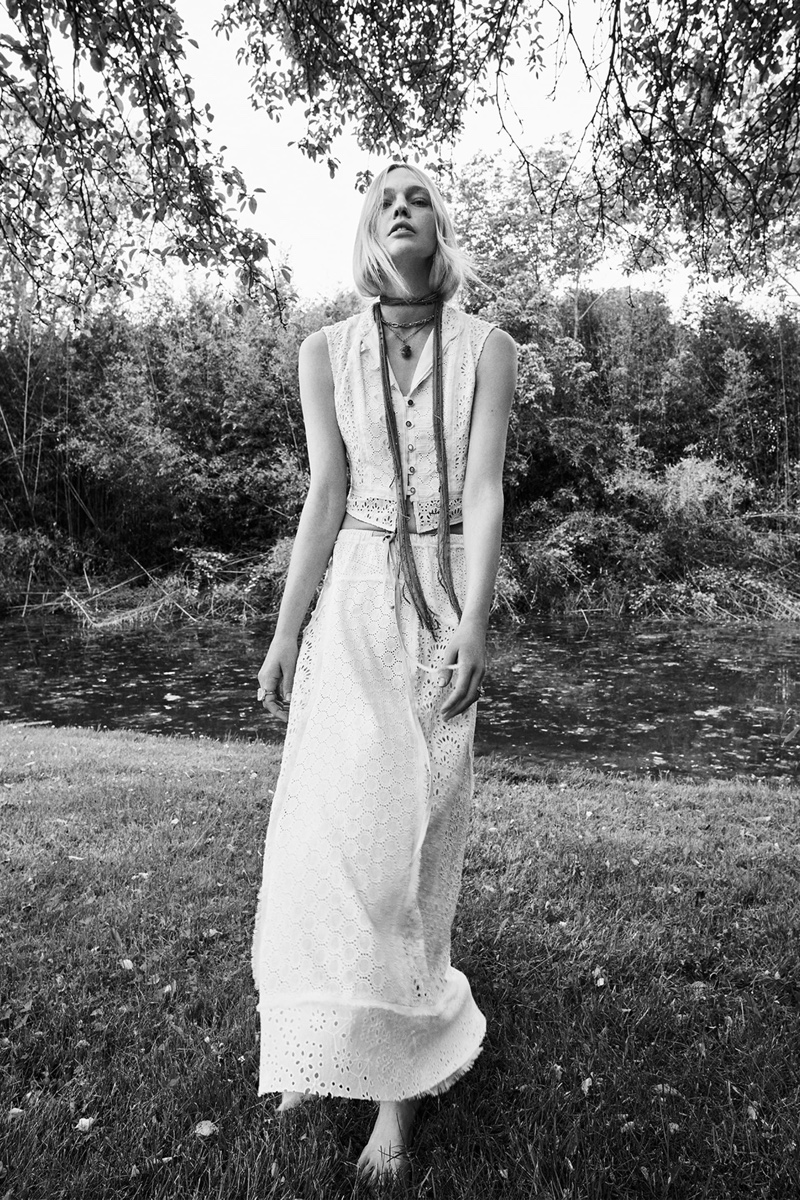 Zara Limited Edition Combination Vest and Embroidered Eyelet Skirt.