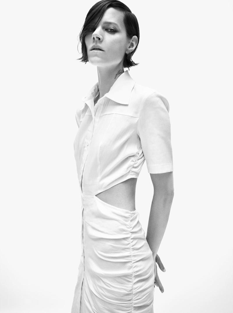 Freja Beha Erichsen embraces minimal style for Zara's fall 2020 collection.