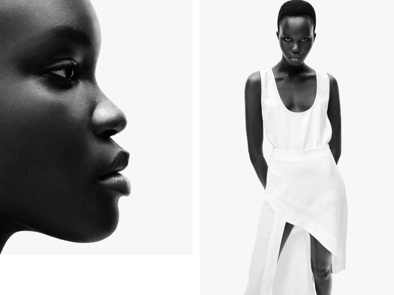 Freja Beha & Achenrin Pose in Zara's Minimal Fall Styles