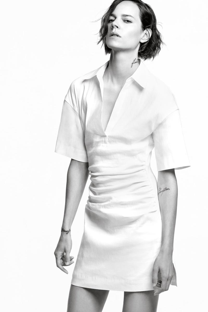 Zara Rustic Ruched Dress.