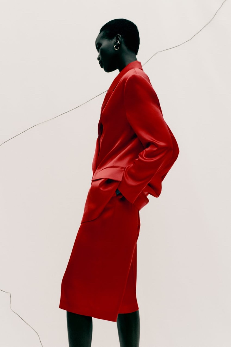 Adut Akech Looks Red-Hot in Zara's Fall Trends