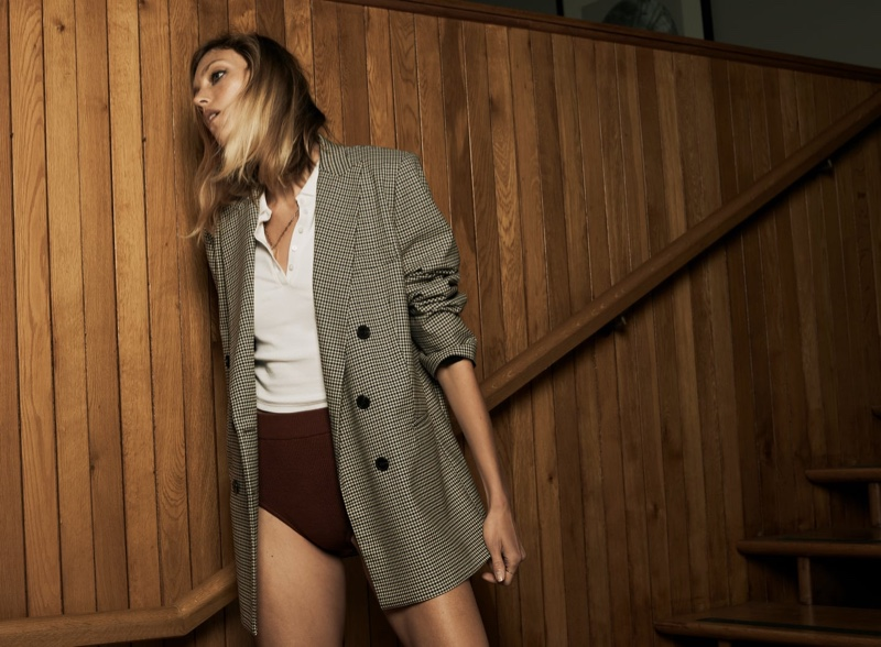 Anja Rubik Poses in Zara's Fall 2020 Fashions