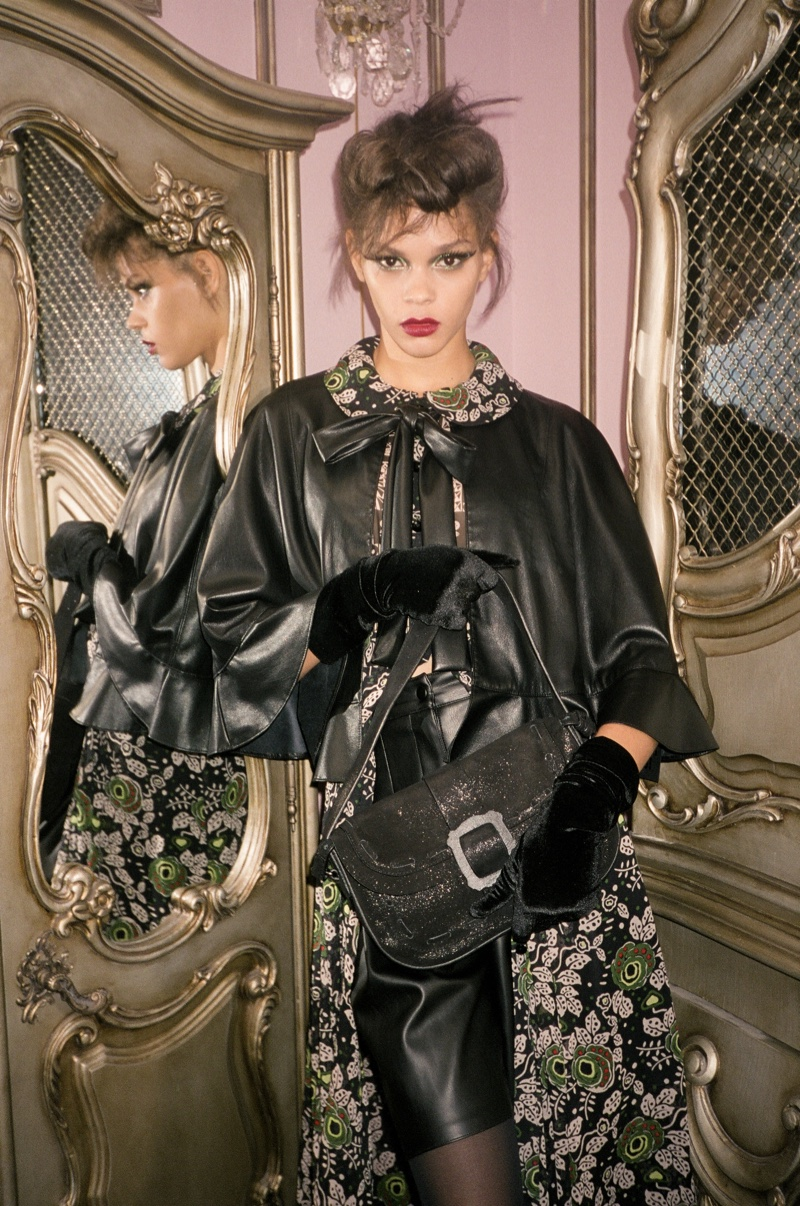 Hiandra Martinez stars in Anna Sui fall-winter 2020 campaign.
