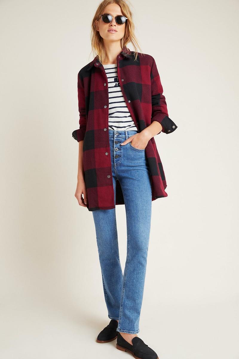 BB Dakota Eldridge Plaid Shirt Jacket $148