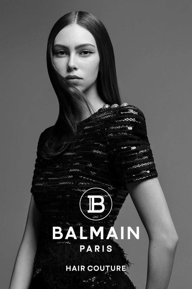 An image from Balmain Hair Couture's fall 2020 advertising campaign.