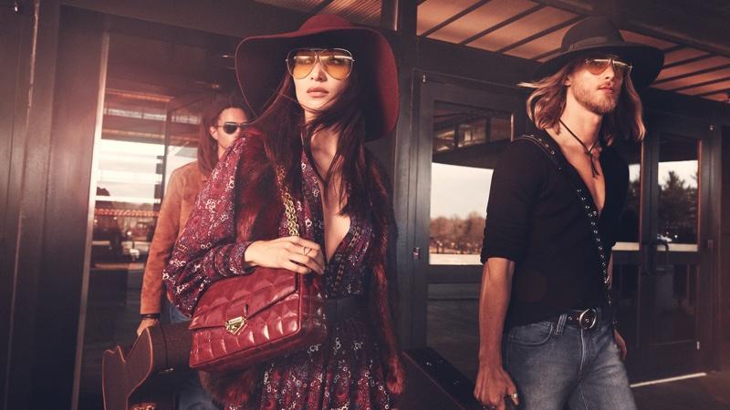 Bella Hadid and Luke Maehlmann front MICHAEL Michael Kors fall 2020 campaign.