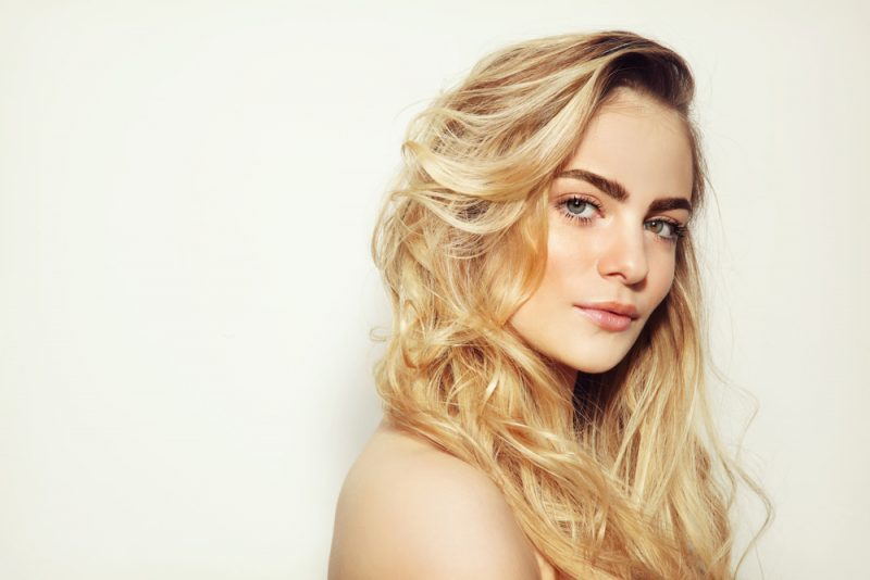 Blonde Woman with Great Skin
