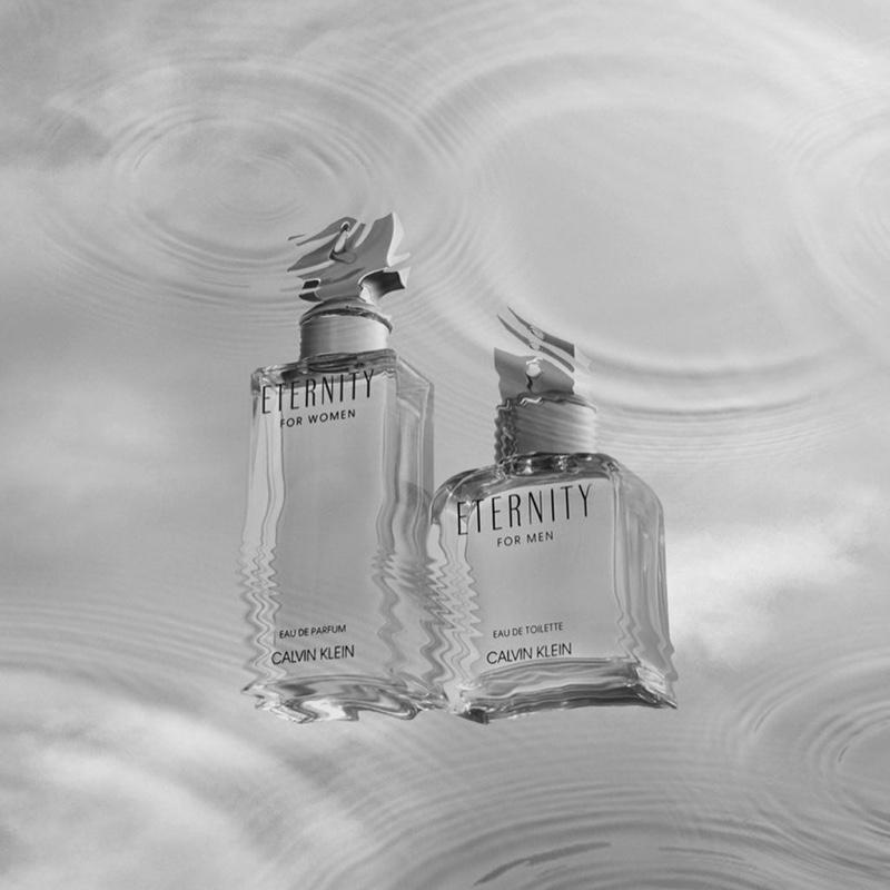 Calvin Klein Eternity fragrance bottles.