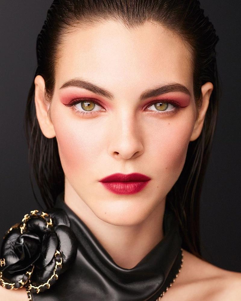 Vittoria Ceretti stars in Chanel Makeup fall-winter 2020 campaign.