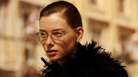 Lauren de Graaf poses for Chanel Eyewear online campaign.