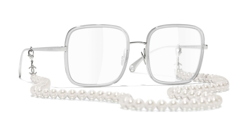 Chanel Square Eyeglasses with Resin & Glass Pearls $1,170