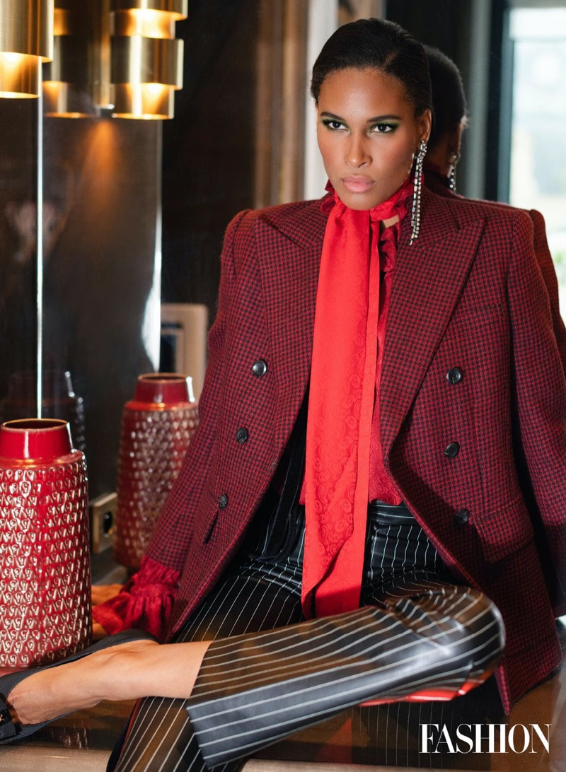 Cindy Bruna Poses in Bold Looks for FASHION Magazine
