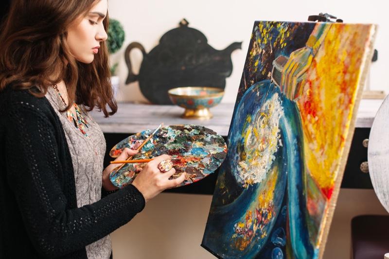 Female Artist Painting Artwork