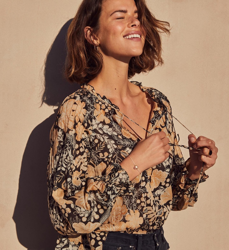 Georgia Fowler is all smiles in Auguste the Label Her campaign.