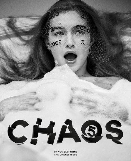 Gigi Hadid Poses in Chanel Looks for Chaos SixtyNine