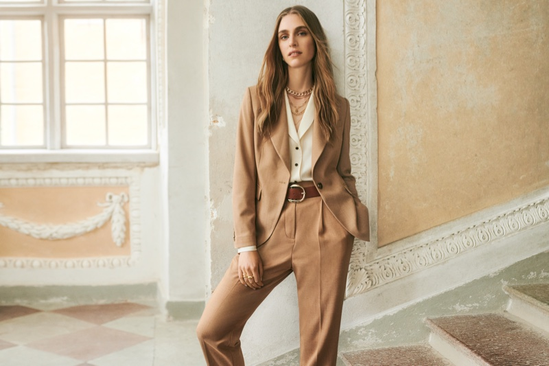 Suiting separates stand out in Giuliva Heritage x H&M collaboration.