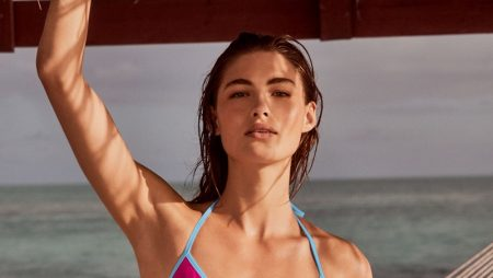 Grace Elizabeth stars in Victoria's Secret Swim high summer 2020 campaign.