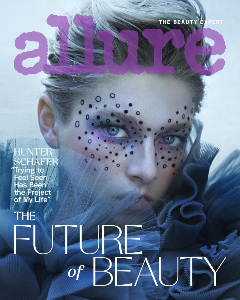 Photographed by Daniella Midenge, Hunter Schafer poses for Allure September 2020 cover.