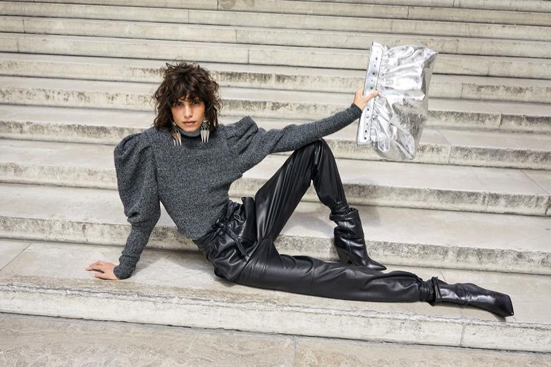 Mica Arganaraz appears in Isabel Marant fall-winter 2020 campaign.