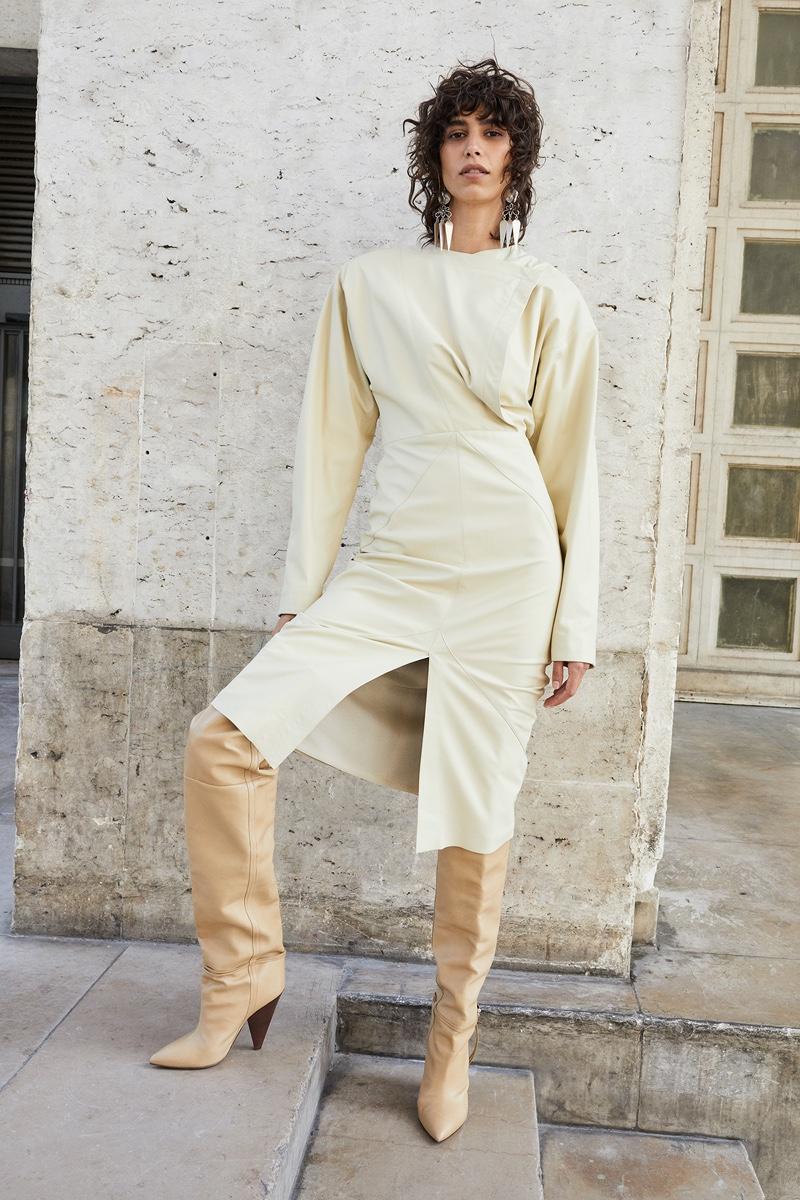Striking a pose, Mica Arganaraz fronts Isabel Marant fall-winter 2020 campaign.