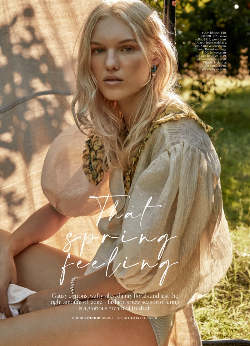 Jess PW Poses in Refreshing Looks for Marie Claire Australia