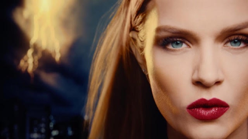 Josephine Skriver gets her closeup in Marvel x Maybelline film.