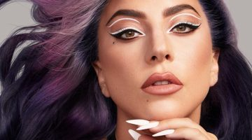 Lady Gaga poses in Haus Laboratories Eye-Dentify Gel Pencil Eyeliner campaign.