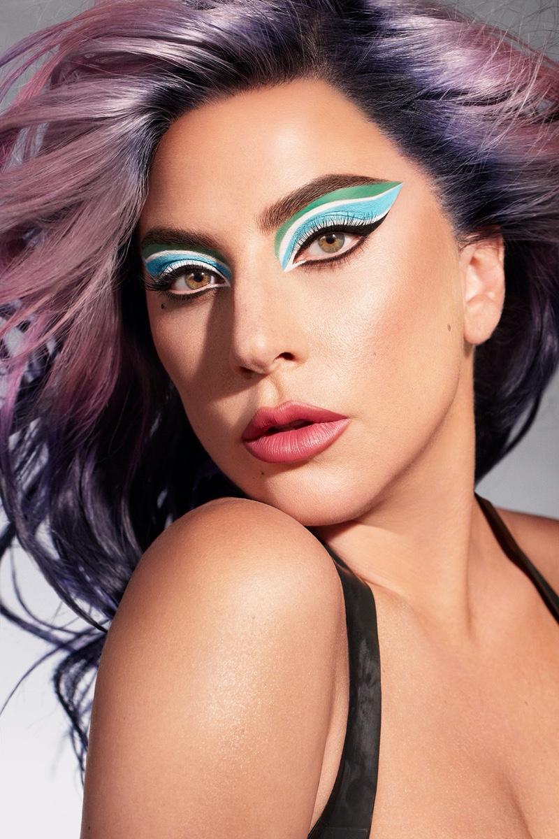Lady Gaga shows off bold look in Haus Laboratories Eye-Dentify Gel Pencil Eyeliner campaign.