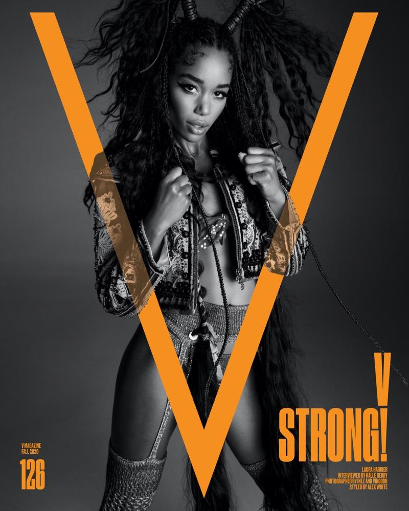 Laura Harrier on V Magazine Fall 2020 Cover.