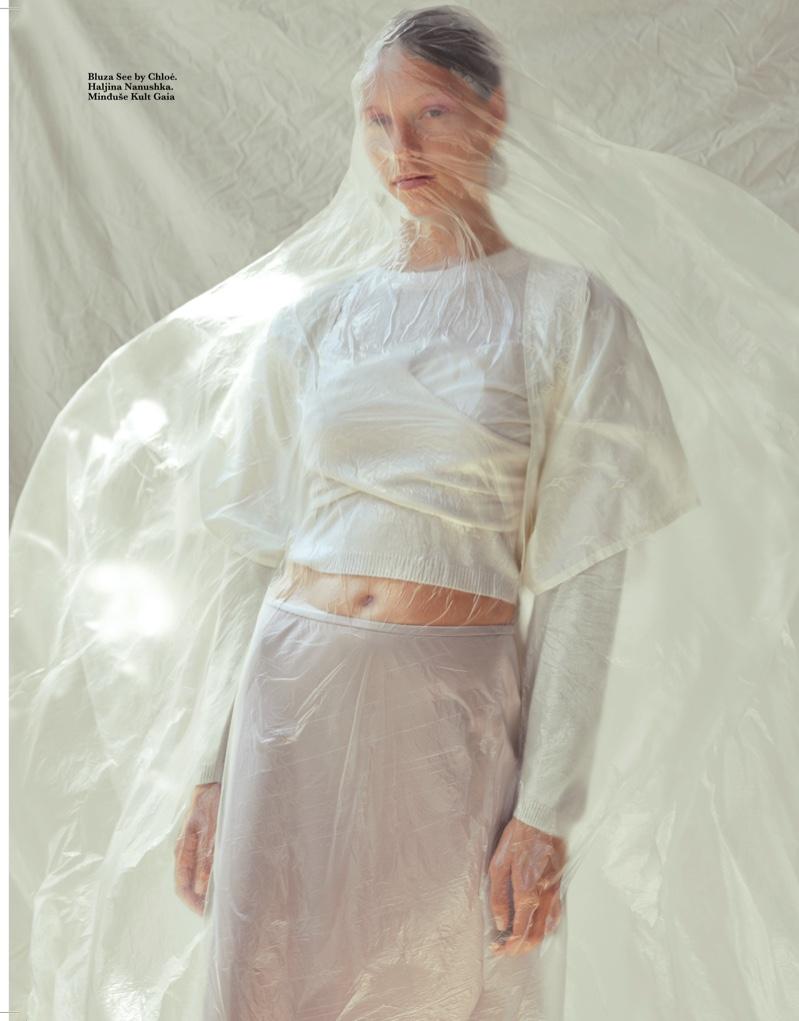 Laura Schellenberg Models Pale Fashion for ELLE Serbia