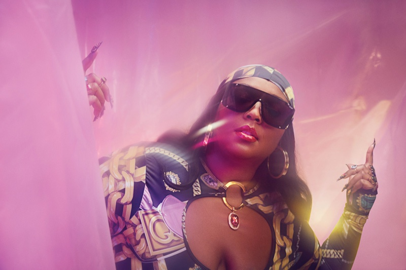 Singer Lizzo poses for second part of Quay sunglasses campaign.