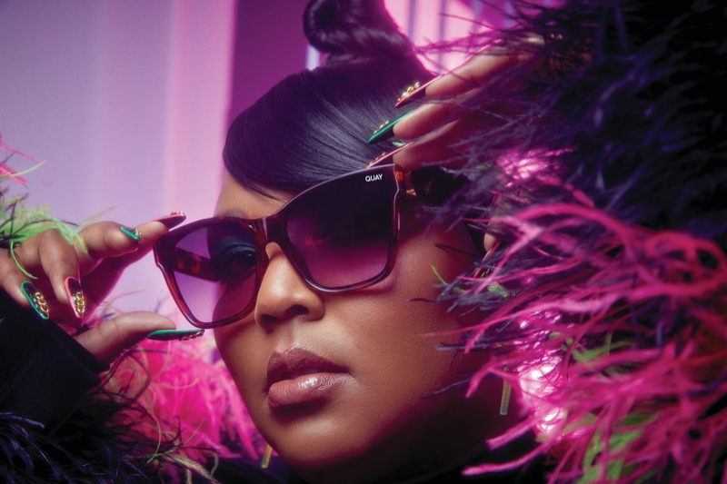 Ready for her closeup, Lizzo fronts Quay sunglasses campaign.