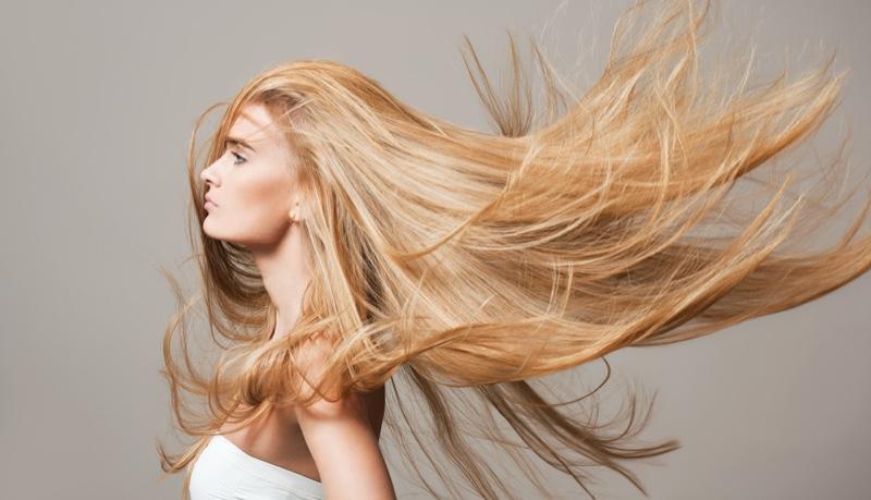 Long Blonde Hair Model Beauty