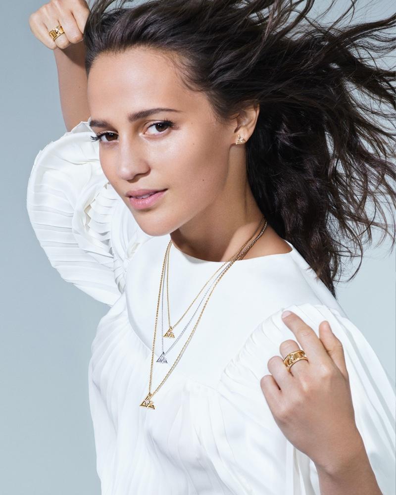 Louis Vuitton taps Alicia Vikander for LV Volt fine jewelry campaign.