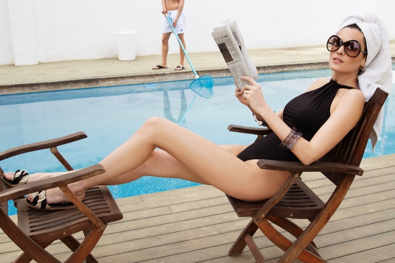 Lourdes Coterón Poses Poolside for Cosmopolitan Bulgaria