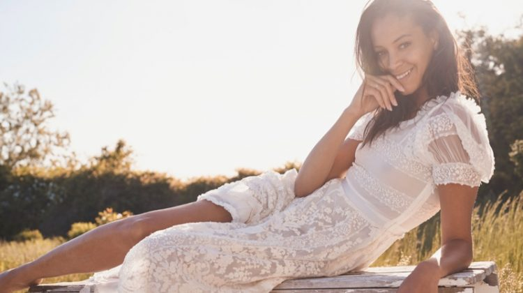 Chantal Monaghan Models LoveShackFancy Bridal Summer '20 Designs