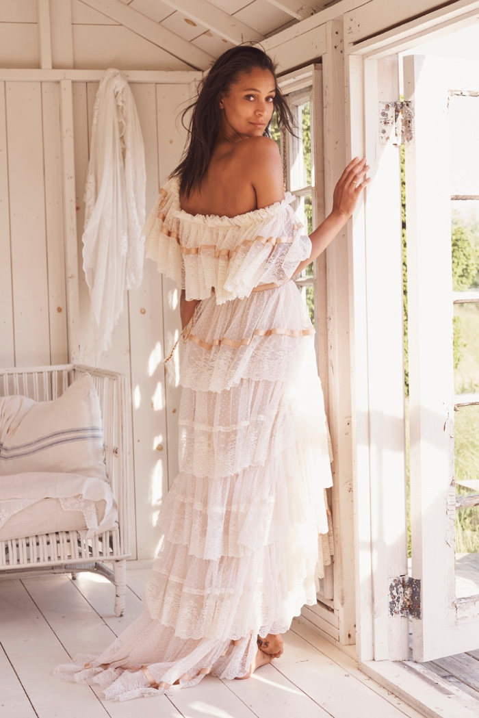 Chantal Monaghan stars in LoveShackFancy Bridal summer 2020 campaign.