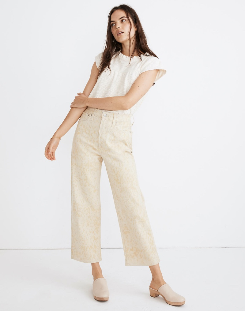 Madewell x Botanical Colors Dyed Slim Wide-Leg Jeans $148