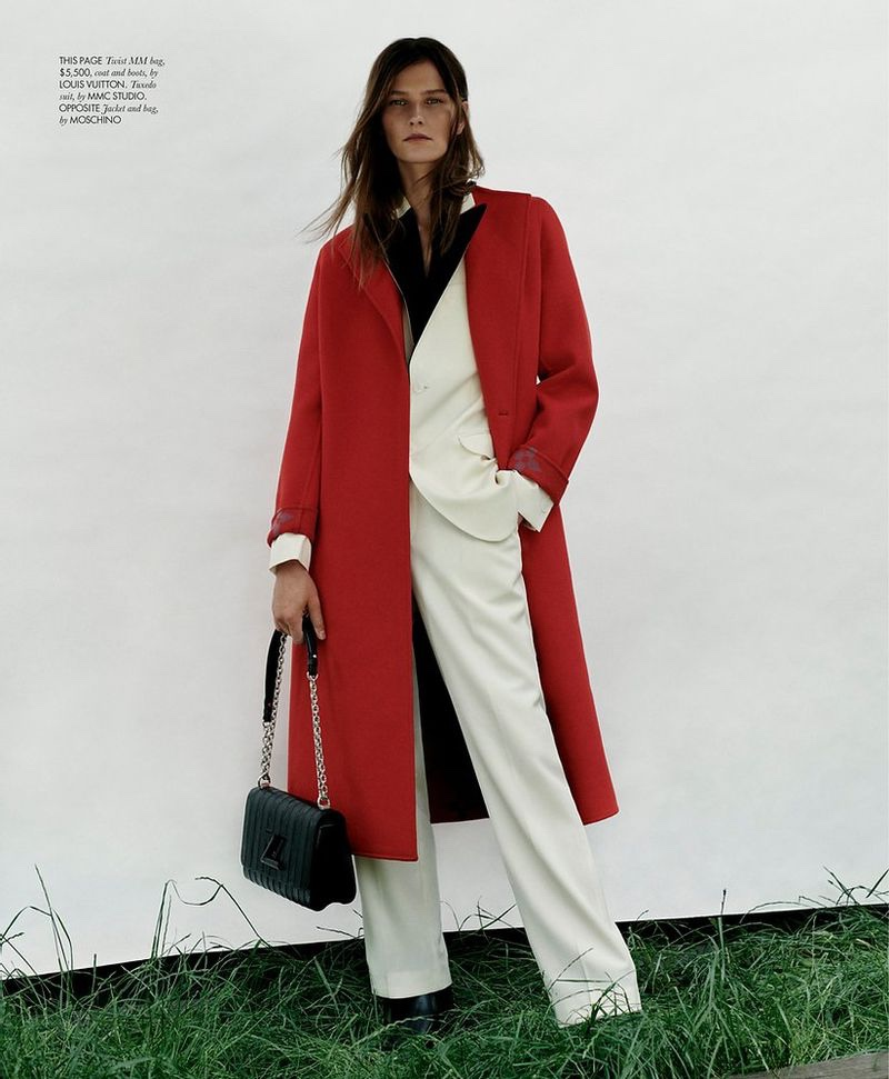 Magdalena Chachlica Poses in Chic Looks for ELLE Singapore