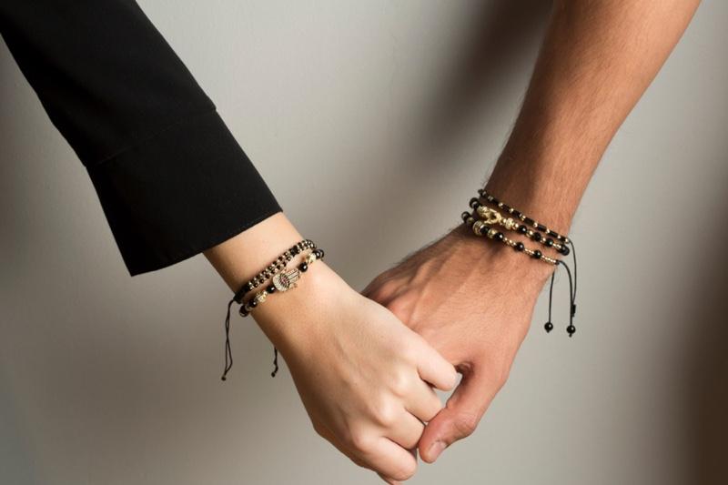 Man Woman Holding Hands Jewelry Bracelet