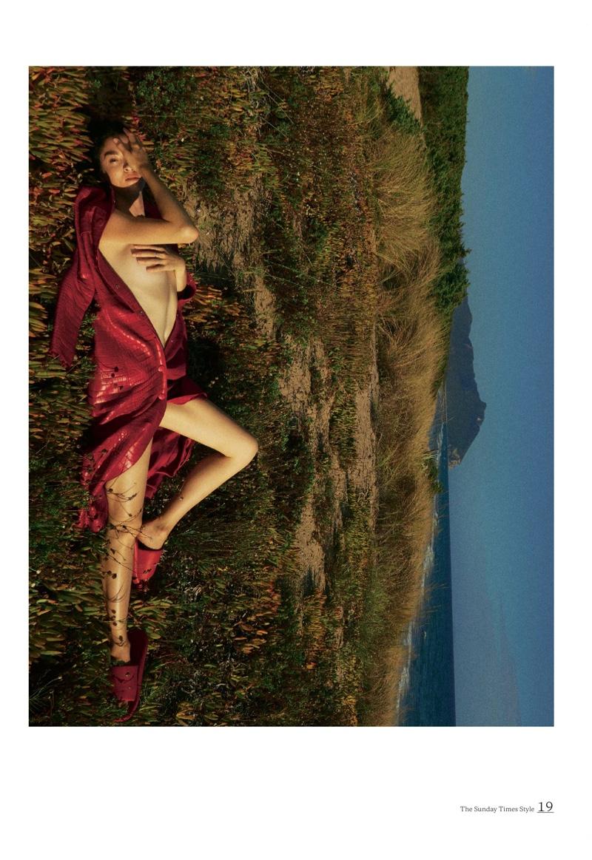 Mariacarla Boscono Models Statement Looks for Sunday Times Style
