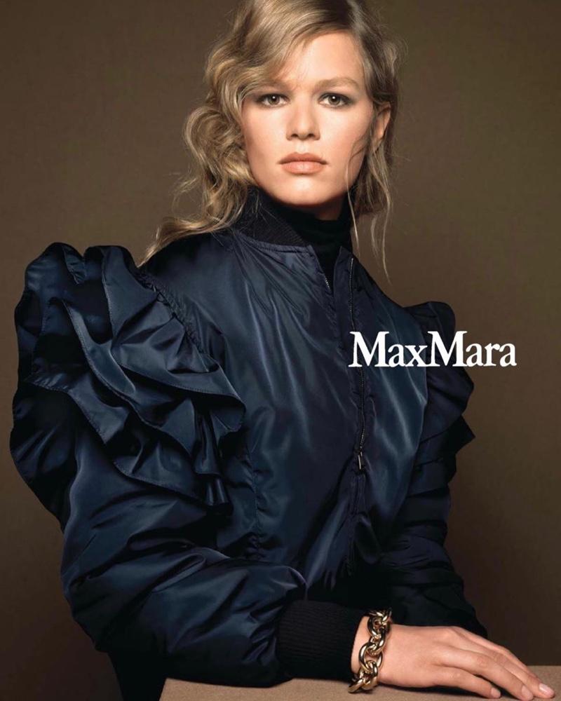 Anna Ewers stars in Max Mara fall-winter 2020 campaign.