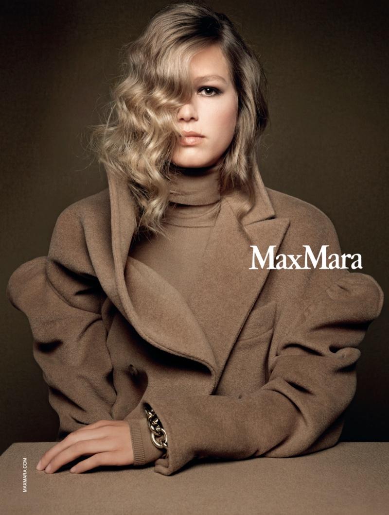 Model Anna Ewers fronts Max Mara fall-winter 2020 campaign.