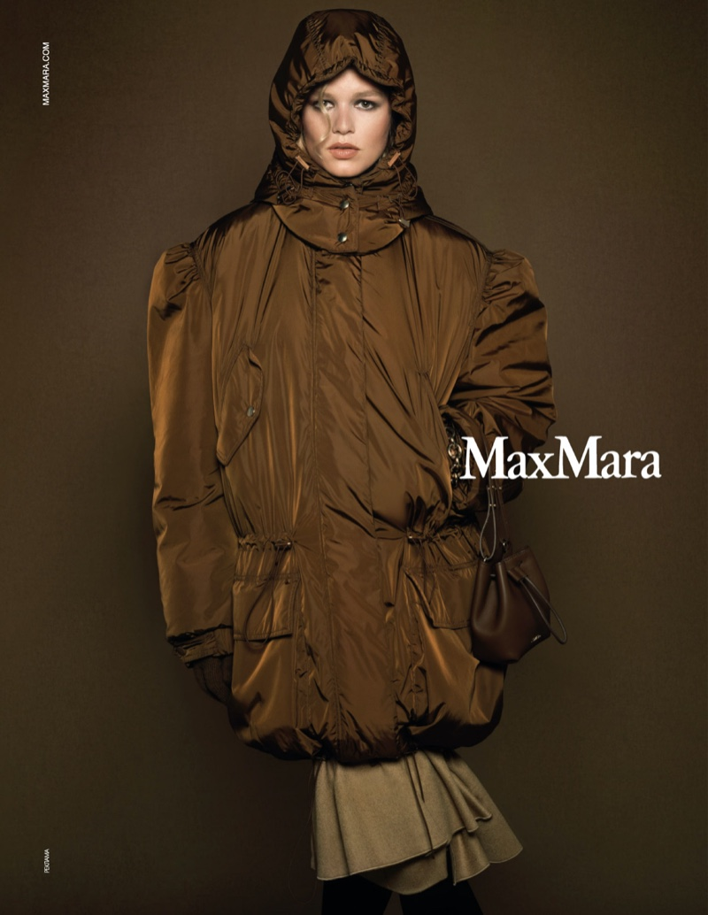 An image from Max Mara's fall 2020 advertising campaign.
