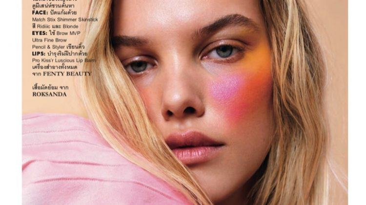 Mies Wears Bold Makeup for ELLE Thailand