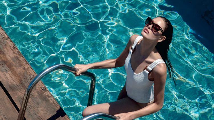 Militsa Borisova Dips Into Summer Swim for Harper's Bazaar Greece