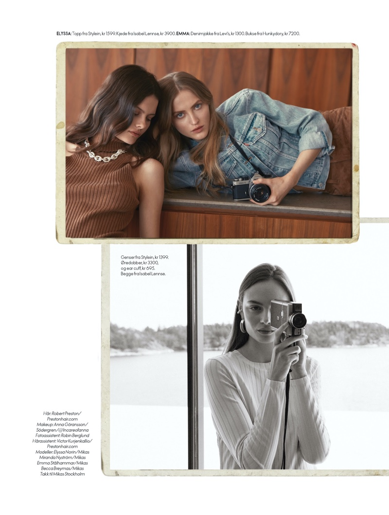 Elyssa, Becca, Emma, Miranda Pose in Casual Styles for ELLE Norway